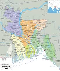 Political Maps Detailed Clear Large Map Of Bangladesh Ezilon Maps