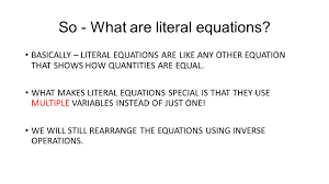 Inverse Operation Worksheets Literal Equations Worksheet Answers