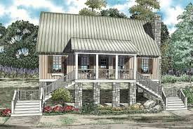 elevated cabin cottage 59953nd architectural designs house plans