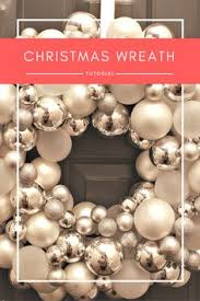 ornament wreath tutorial silver ornaments wreath