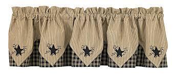 Black Valances Amazon Com Park Designs Sturbridge Star Embroidered Point Valance