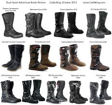 good motorcycle boots review of dual sport adventure motorcycle boots