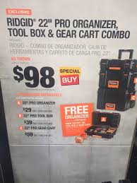 Rolling Tool Cabinet Sale Ridgid Toolbox Sale Tools U0026 Equipment Contractor Talk