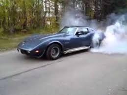 75 stingray corvette 75 corvette burnout