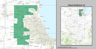 chicago voting map illinois s 14th congressional district