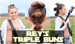 rey u0027s triple buns the force awakens star wars hairstyles youtube
