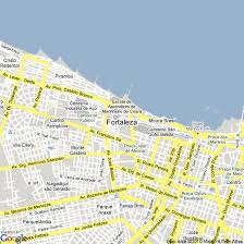 city map of brazil fortaleza map