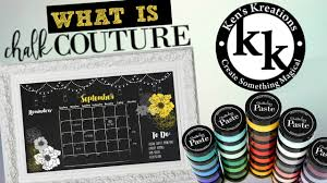what is chalk couture ken u0027s kreations