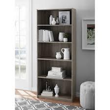 mainstays 5 shelf standard wood bookcase expresso walmart com