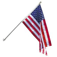 American Flag Home Decor Annin Flagmakers Estate 3 Ft X 5 Ft Nylon U S Flag With 6 Ft
