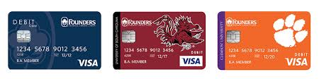 electronic cards visa debit founders federal credit union