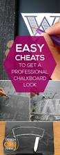 tips and tricks to achieve a professional chalkboard look read it