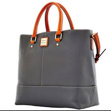 dooney u0026 bourke pebble grain chelsea grayish blue tote bag on sale