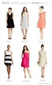 polka dot and striped bridesmaid dresses kate spade inspired