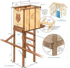 Wood House Plans by Free Tree House Look Out Tower Plans