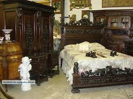 italian bedroom suite antique carved italian walnut mid 19th century five piece queen