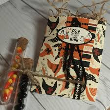 stamped sophisticates halloween mini treat bag using spooky night