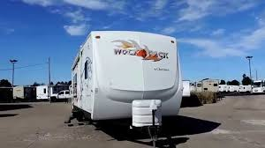 very nice 34 u0027 2007 wolf pack 30wp wide body toy hauler 16 u0027 garage