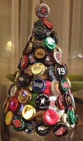 147 best home decor images on pinterest beer craft beer and christmas tree made of beer caps