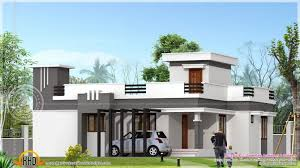 Contemporary Home Plans Small Contemporary Home In 1200 Sq Feet Indian House Plans Ft