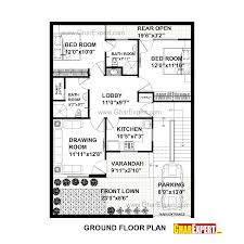 house plan for 33 feet by 45 feet plot plot size 165 square yards