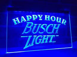 busch light neon sign la620 busch light beer happy hour bar led neon light sign home decor