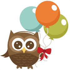 owl balloons owl holding balloons svg file for cutting machines owl svg file