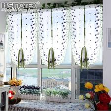aliexpress com buy tulle voile roman curtains embroidery flower