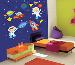 space wall decor bedroom ideas ward log homes kids room interior wall decoration with kid wall decals for outer wall decal within space wall