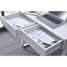 bureau avec tiroir pas cher bureau blanc avec tiroir petit bureau informatique en bois coloris