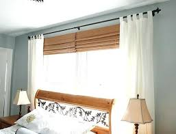Curtain With Blinds Curtain Rods Bedroom Biggreen Club