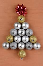 tree shape made from ornaments stock photography image