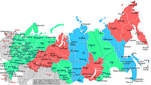 russia map by population russia regions population geography
