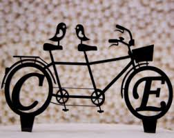 bicycle cake topper bicycle for two etsy