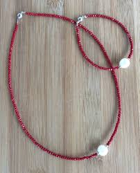 crystal necklace designs images Designer handmade crystal and pearl choker chokers crystal jpg