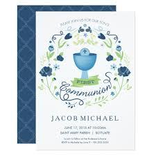 communion invitations for boys boy communion invitations announcements zazzle