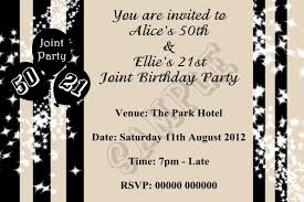 black and white 21st birthday invitations choice image
