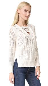 derek lam 10 crosby lace up v neck sweater shopbop
