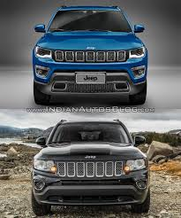 jeep compass 2017 exterior 2017 jeep compass vs 2011 jeep compass front indian autos blog