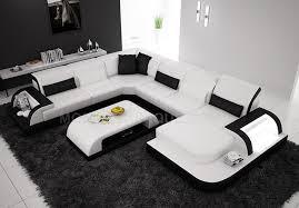 canapé d angle panoramique en cuir avec table basse assortie offerte max