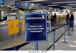 check in desk sign economy business finance ebf company information sign chekc in