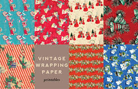 vintage wrapping paper printable vintage wrapping accents