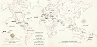 Countries Visited Map Insane 131 Day Cruise Will Visit 30 Countries On 6 Continents