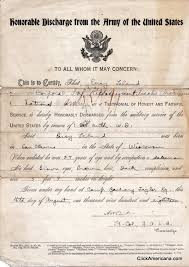 honorable discharge certificate wwi honorable discharge notice 1918 click americana