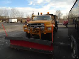 1990 ford f600 dump truck with western 10 foot snowplow for sale