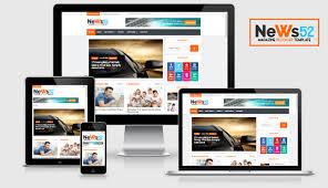 news52 responsive newspaper magazine blogger template ms