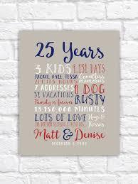 25th wedding anniversary gifts 25th wedding anniversary gift paper canvas twenty fifth 10