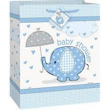 Walmart Baby Shower Decorations Blue Elephant Baby Shower Large Gift Bag Walmart Com