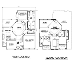 Contemporary Open Floor Plans Pleasing 30 Unique 2 Story Floor Plans Design Decoration Of