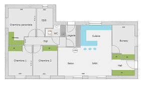 bureau et maison plan maison 3 chambres 1 bureau p 0002o lzzy co